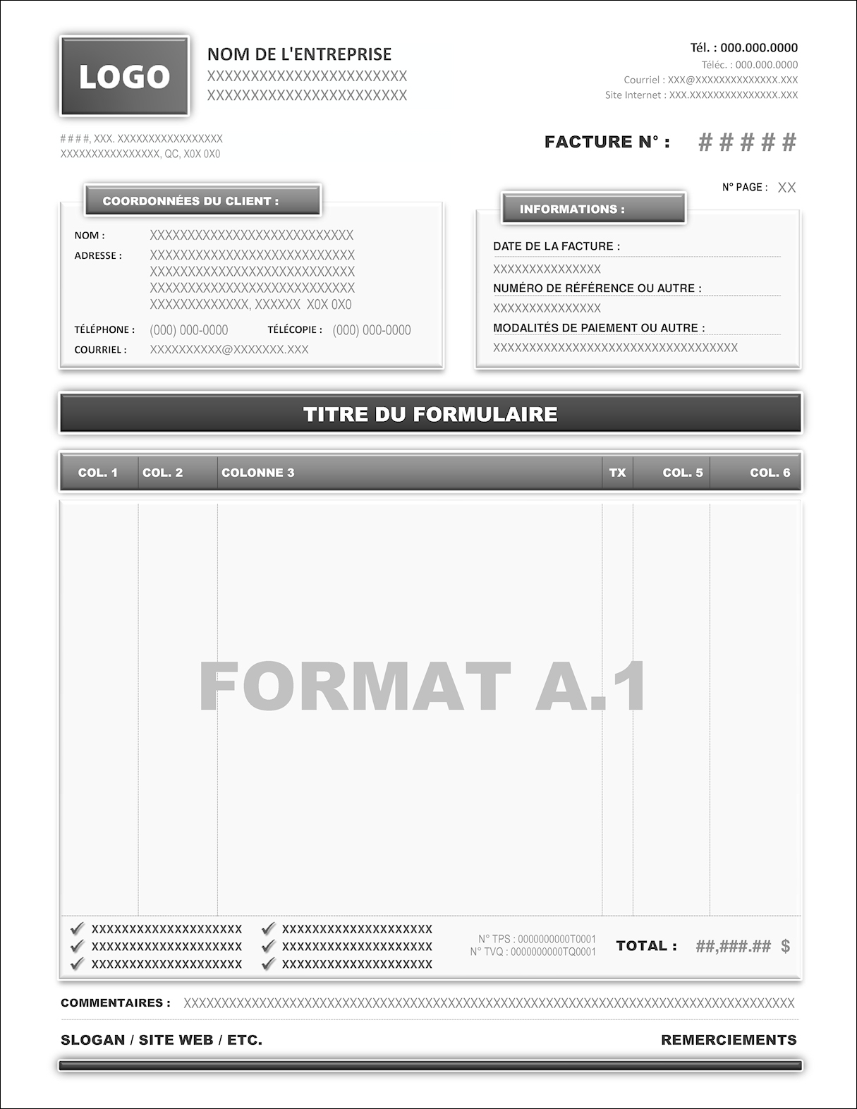FORMAT A.1
