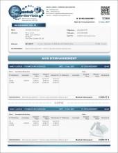 MODÈLE SE.2 | SERVICES | AVIS D'ENCAISSEMENT | FORMAT A.1