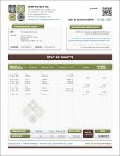 MODÈLE SE.4 | SERVICES | ÉTAT DE COMPTE | FORMAT A.1