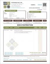 MODÈLE DE.3 | DÉTAILLANTS | BON D'EXPÉDITION | FORMAT B.2