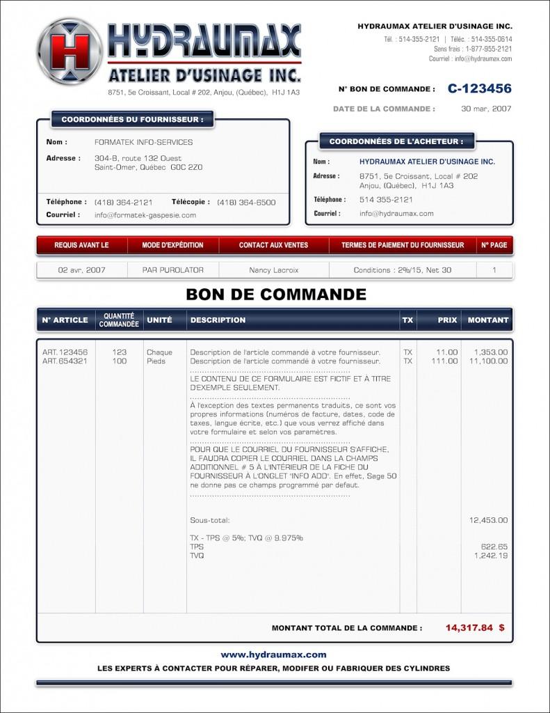 Format b 2 cr ation et programmation de formulaires sage 50 simple comp - Bon prix suivi de ma commande ...