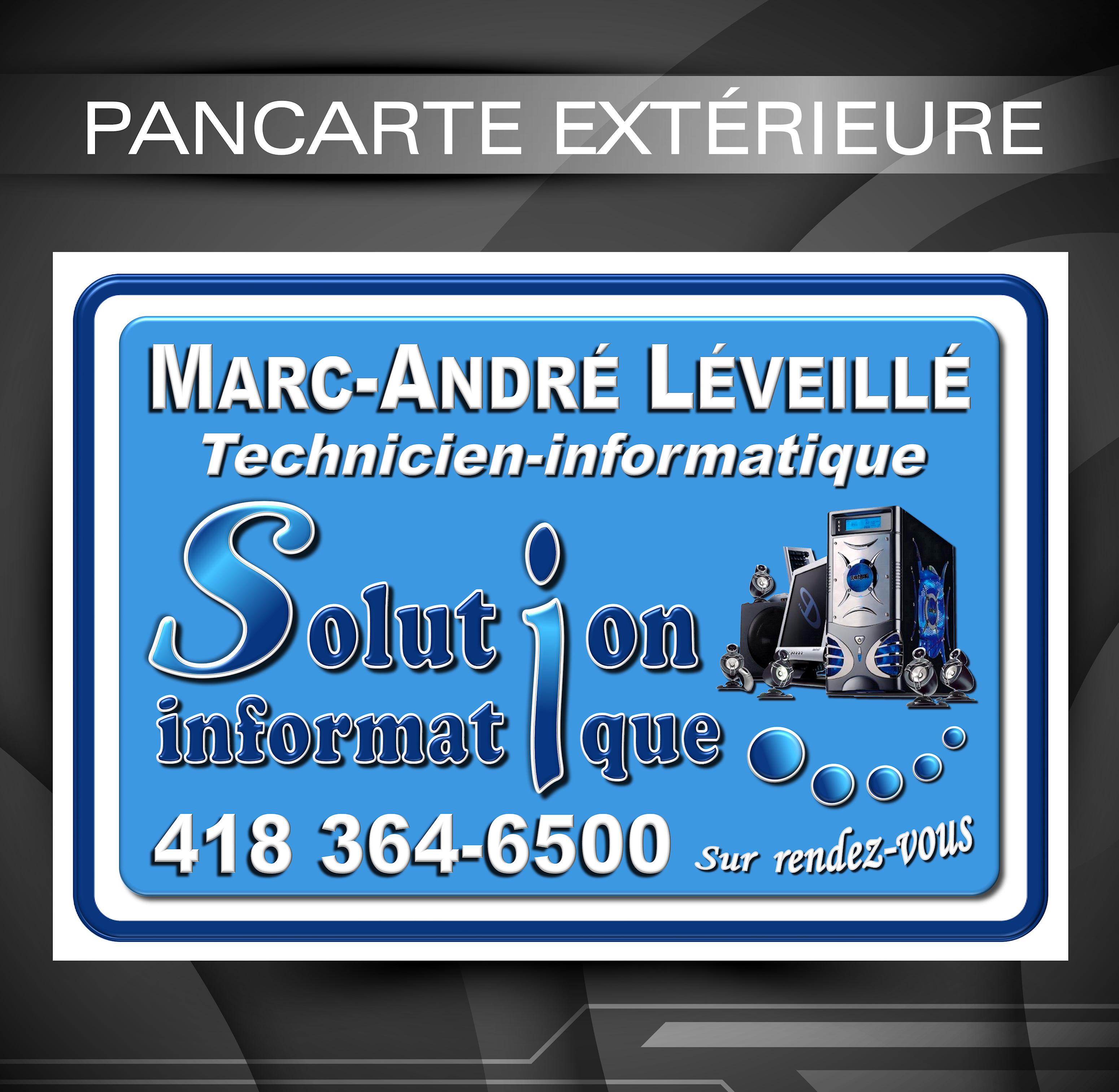Pancarte ext rieure entreprise en informatique for Pancarte exterieure publicitaire