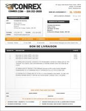 BON DE LIVRAISON | CO.5 | CONSTRUCTION | FORMAT B.1