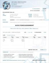 C.2 - SE.1 - SERVICES - AVIS D'ENCAISSEMENT