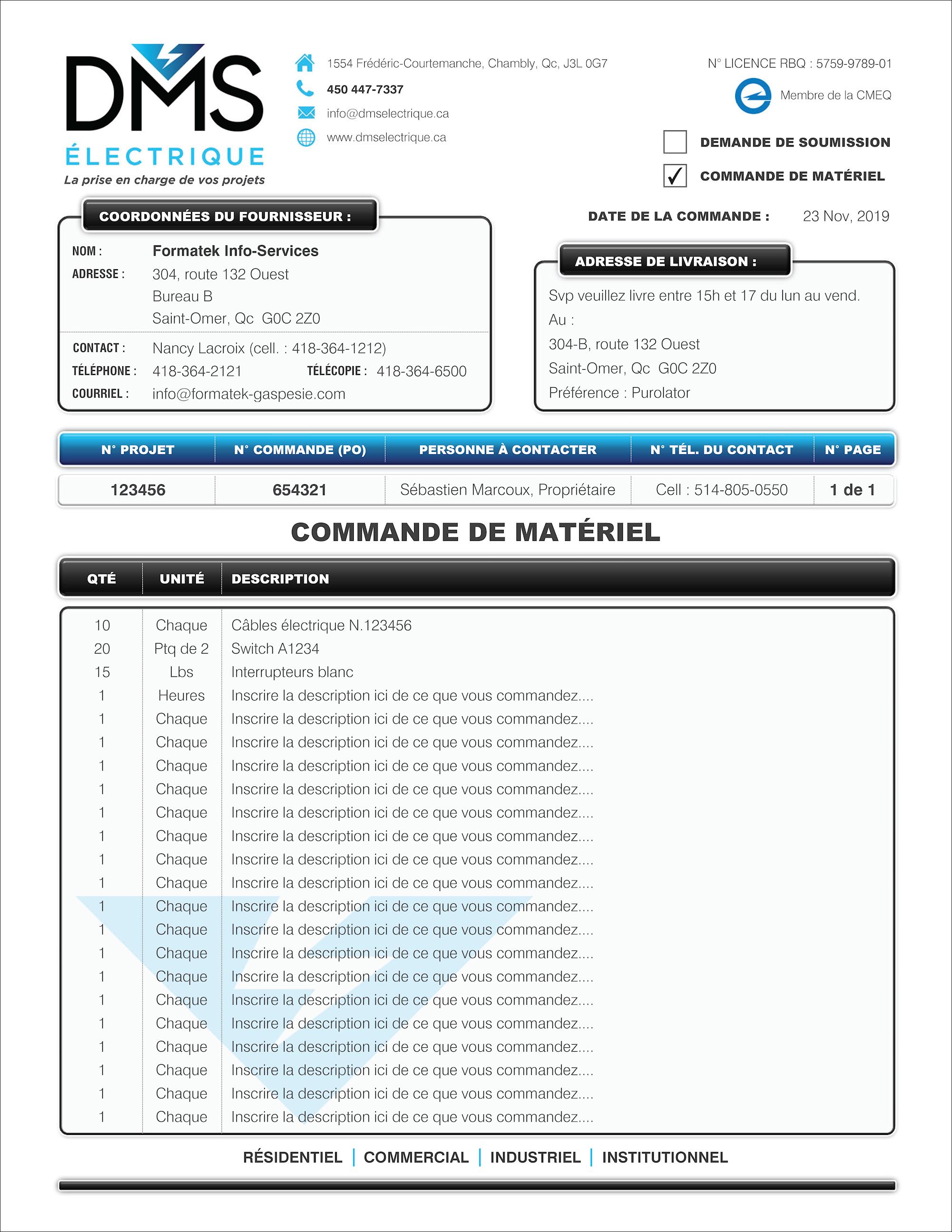Bon De Commande A Un Fournisseur Pdf Dynamique Interactif Creation Et Programmation De Formulaires Sage 50 Simple Comptable