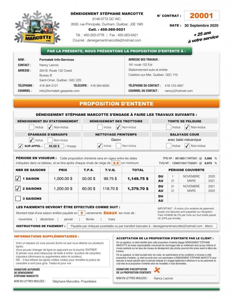 PROPOSITION D'ENTENTE DE DÉNEIGEMENT STÉPHANE MARCOTTE_FORMULAIRE PDF INTERACTIF DYNAMIQUE_IMPRIME