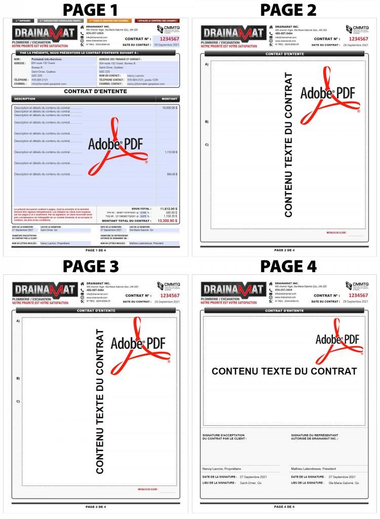 CONTRAT-DENTENTE-FORMULAIRE-PDF-DYNAMIQUE-DRAINAMAT-4 PAGES