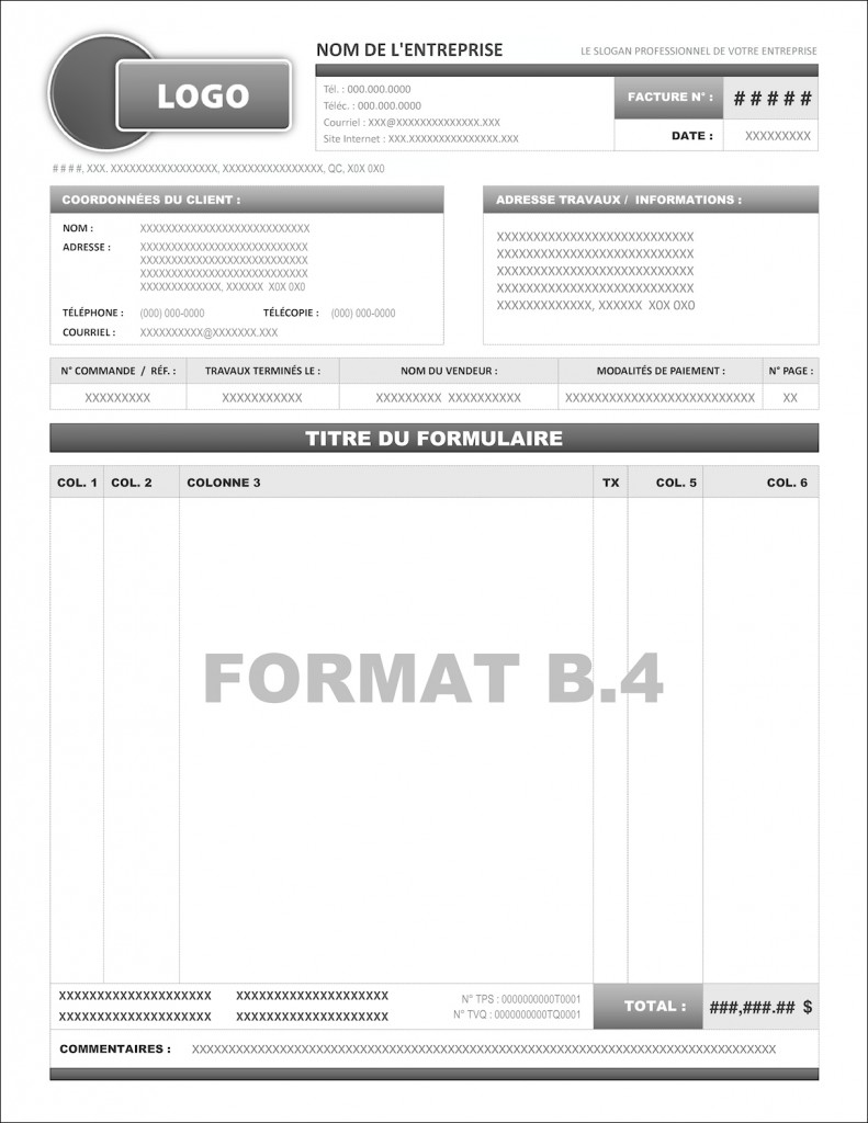 commande format b 4 formulaires pour sage 50 ou simple comptable cr ation et programmation. Black Bedroom Furniture Sets. Home Design Ideas