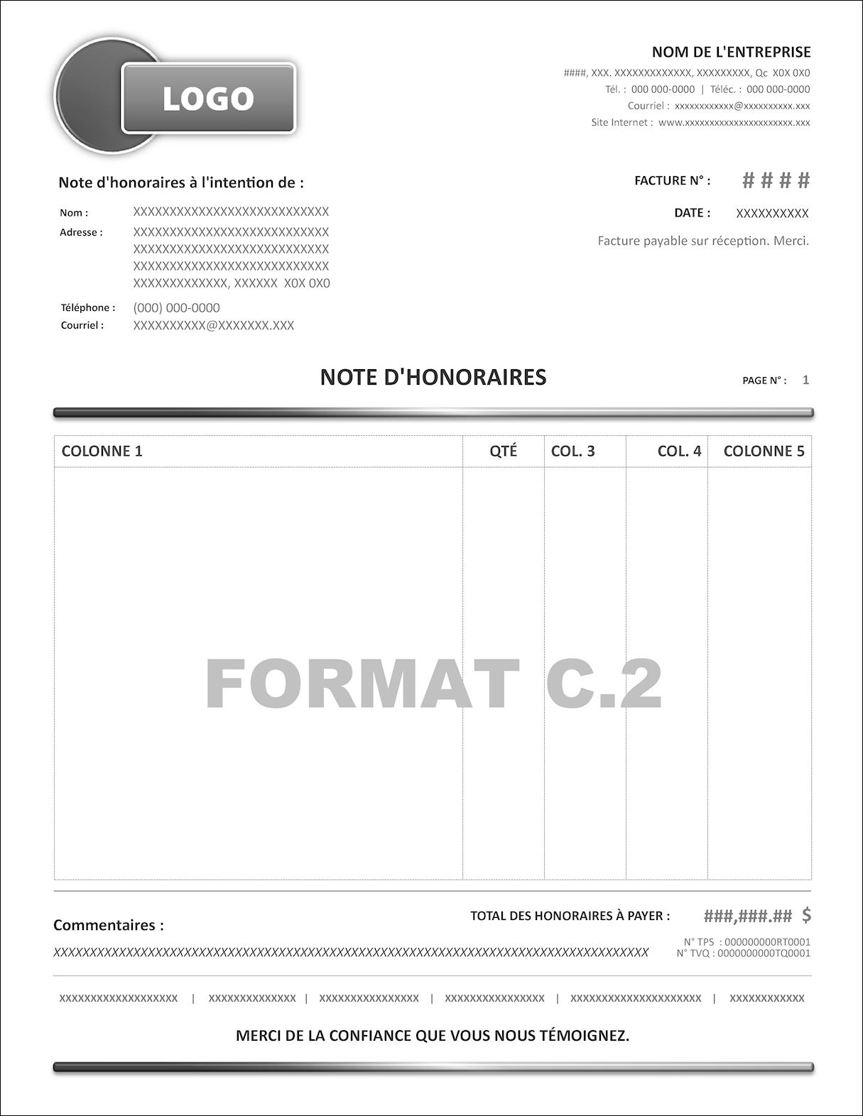 MODÈLES DU FORMAT C.2