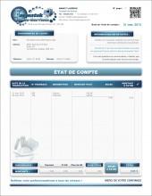 MODÈLE SE.2   SERVICES   ÉTAT DE COMPTE   FORMAT A.1