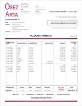 SE.1 ÉTAT DE COMPTE ANGLAIS - FORMAT C.1 SERVICES