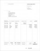 SE.2 ÉTAT DE COMPTE FRANÇAIS - FORMAT C.1 SERVICES