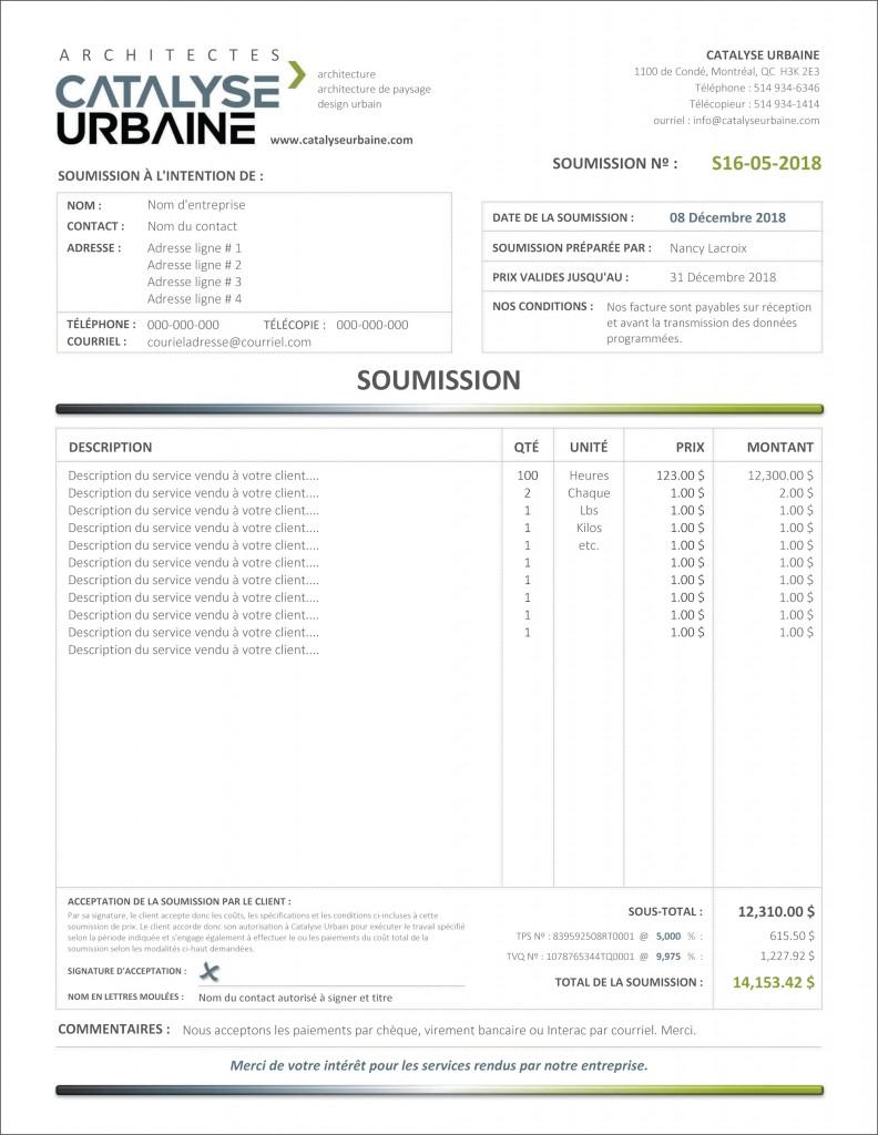 FORMULAIRE PDF DYNAMIQUE INTERACTIF SOUMISSION CATALYSE URBAIN