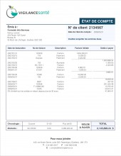 C.1 - SERVICES SANTÉ - SE.2B - ÉTAT DE COMPTE