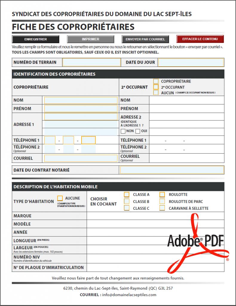 PDF DYNAMIQUE INTERACTIF - FICHE À REMPLIR - FORMATEK INFO-SERVICES